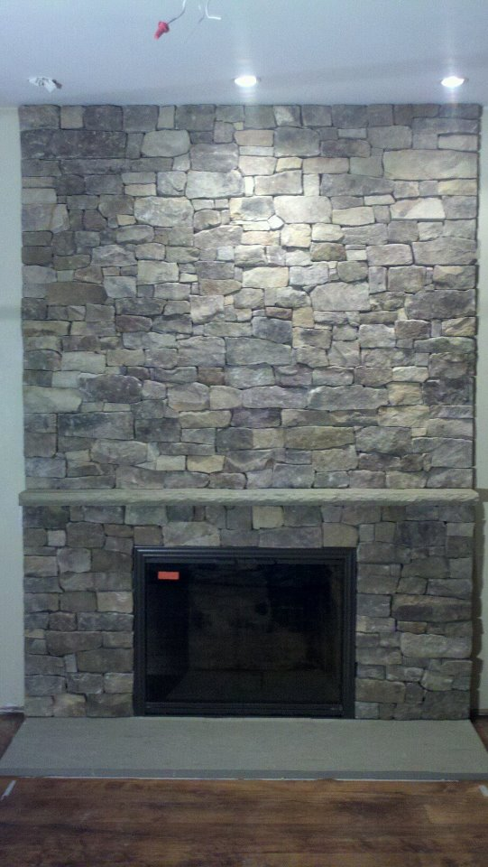Installation Of Natural Veneer Stone On A Zero Cleanace