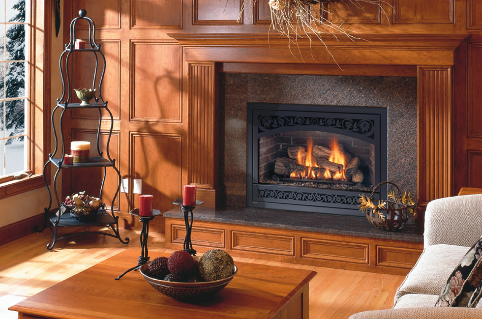 Gas log sets and fireplaces susi builders supply of for Firerock fireplace cost